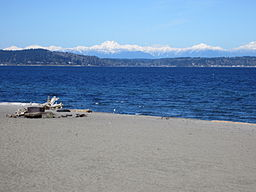Alki Beach, Seattle in April 2012