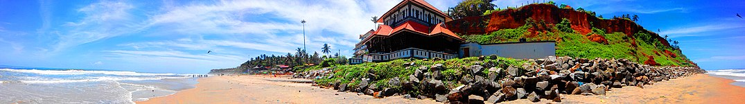 A panoramic view of Varkala Beach Cliff