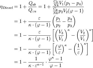 الفيزياء دورة ديزل