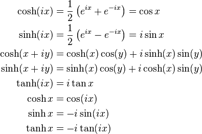 Hyperbolic Function Wikipedia The Free Encyclopedia