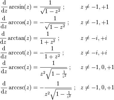 Inverse Trigonometric Functions Wikipedia The Free