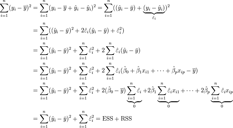 partition of sums of squares wikipedia the free
