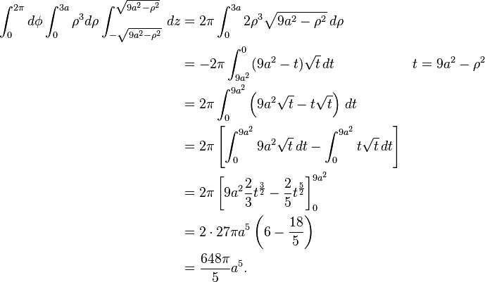 Double Integrals and Integral of a Disk