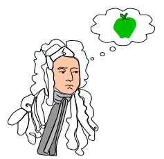Datei:Isaac Newton cartoon.PNG