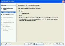 Openofficeorg Writer Serienbrief Wikibooks Sammlung Freier