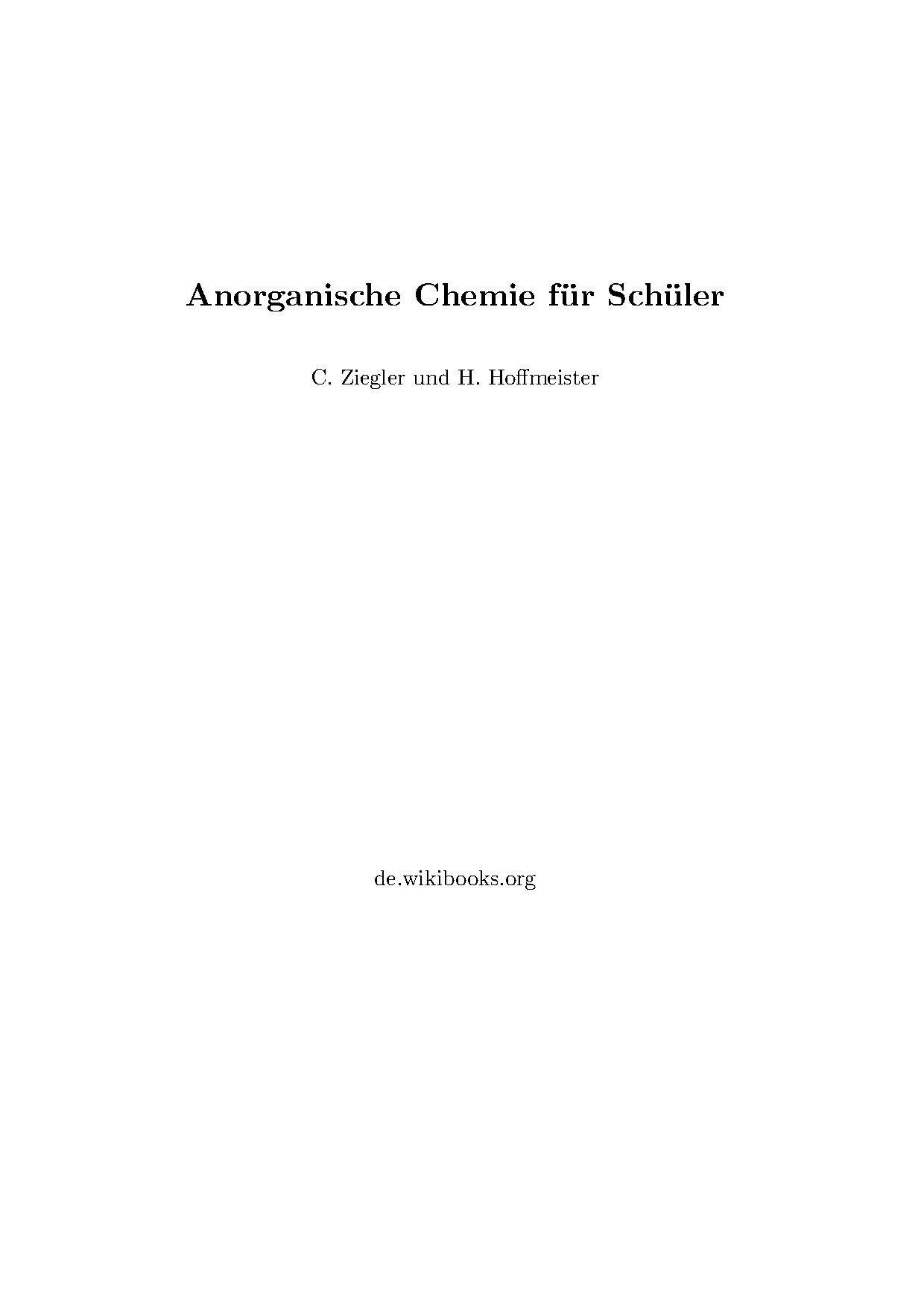 Diskussion:Anorganische Chemie für Schüler – Wikibooks, Sammlung ...