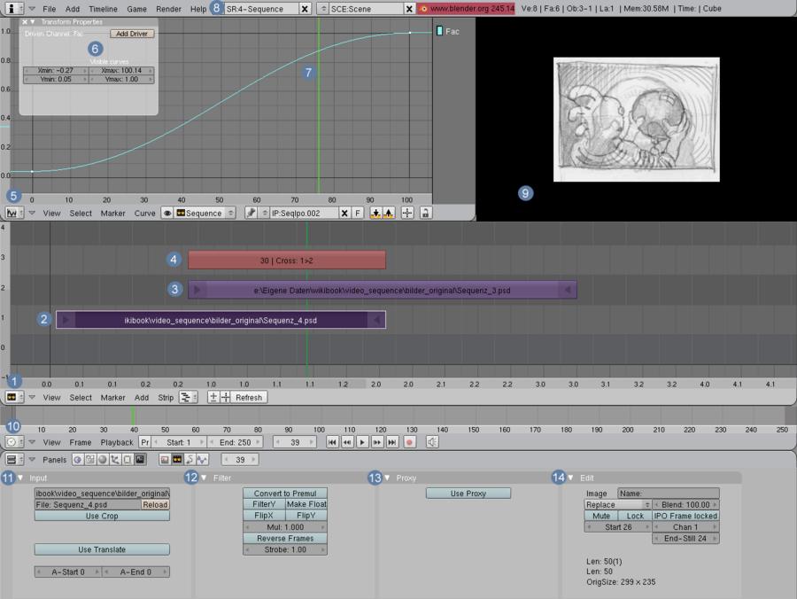 Blender Dokumentation: Video Sequence Editor – Wikibooks, Sammlung ...