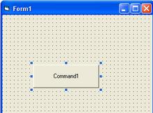 wir zeichnen unseren ersten button im moment noch ohne funktion - Visual Basic Beispiele