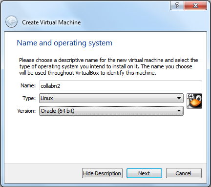 Virtualbox 4: Second VM Name and OS