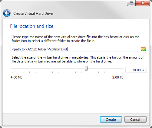 RA-vbox 4214-create vm-file location and size