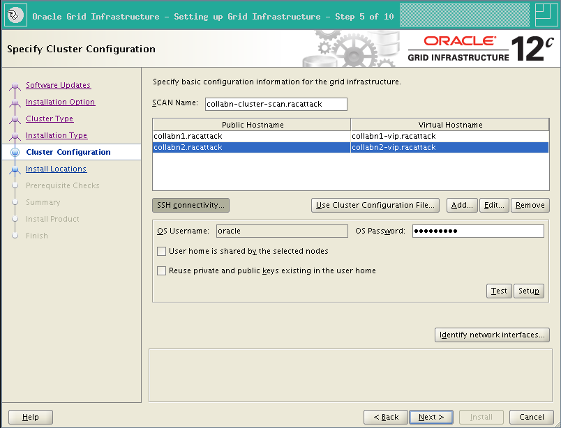 RA-Oracle_GI_12101-Install-SSH connectivity