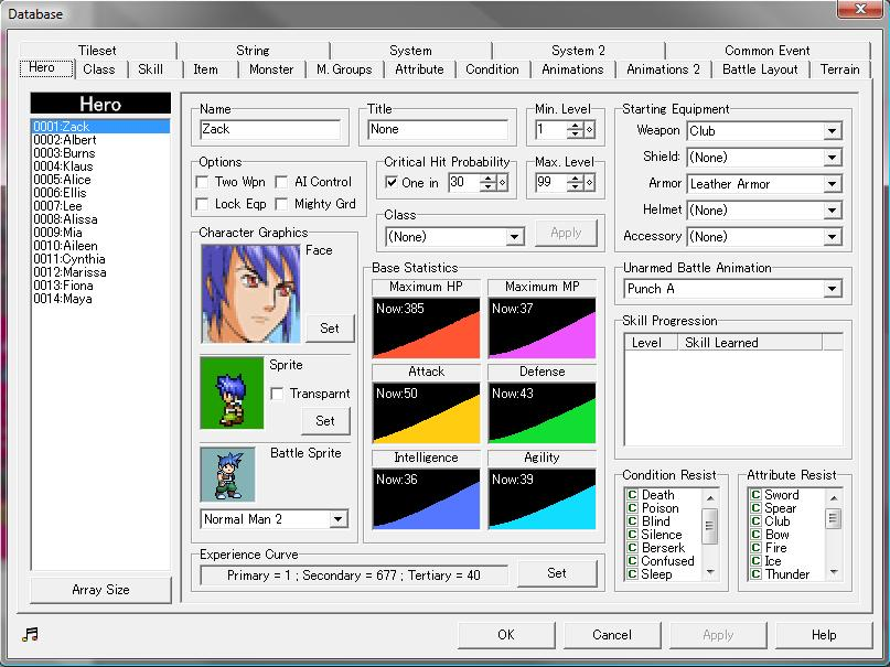 RPG Maker 2003/Hero - Wikibooks, open books for an open world