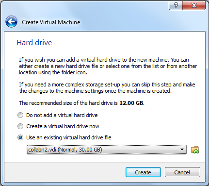 Virtualbox 4: Create second vm - Use existing HD