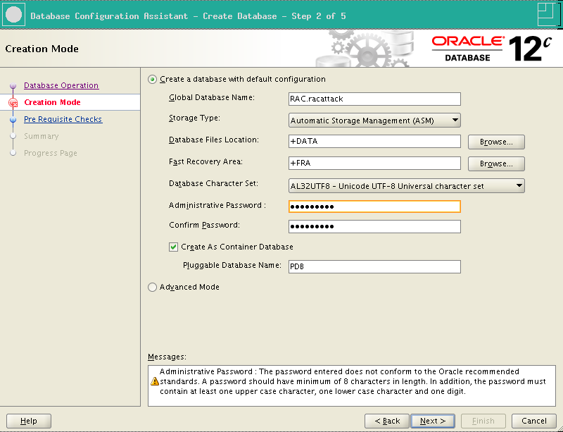 RA-Oracle_RAC_12101-DBCA Creation mode