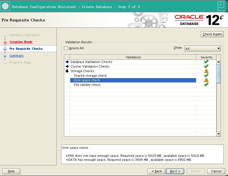 RA-Oracle_RAC_12101-DBCA Prerequisite checks