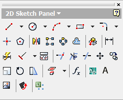 Inventor's Sketch Tools