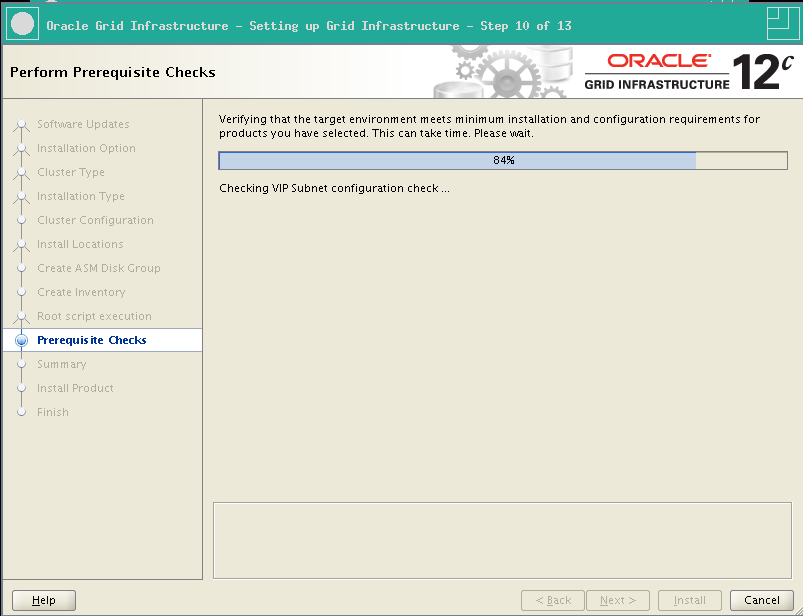 RA-Oracle_GI_12101-Install-Prerequisite Check progress