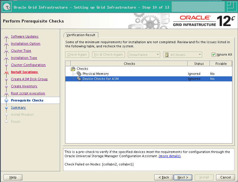RA-Oracle_GI_12101-Install-Prerequisite checks