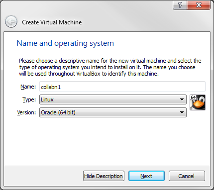 RA-vbox 4214-create vm-name and os