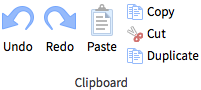A screenshot of the clipboard toolbar