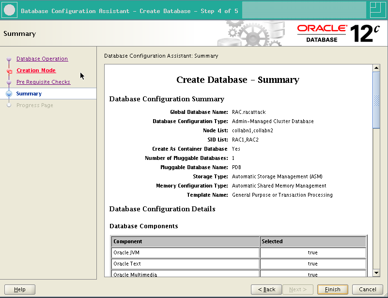 RA-Oracle_RAC_12101-DBCA Summary
