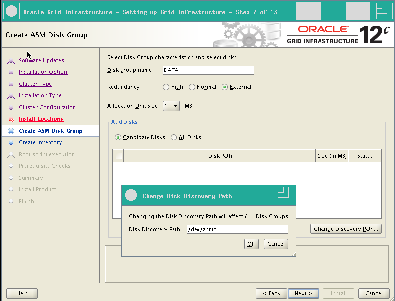 RA-Oracle_GI_12101-Install-Create ASM Diskgroup