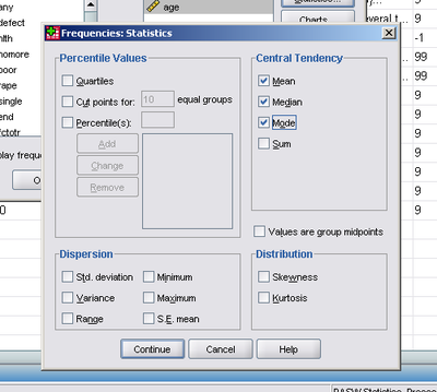 how to find the mean in spss