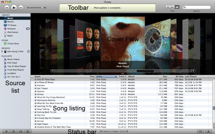 Ilife  Itunes  The Itunes Interface
