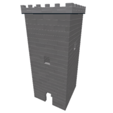 A screenshot of a tower made out of parts