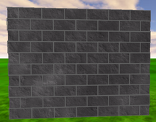 A brick wall using textures