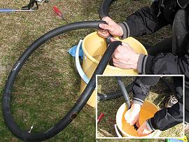 napavaihteisen pyörän renkaan vaihto