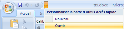 Microsoft word 2007 personnaliser acces rapide.png