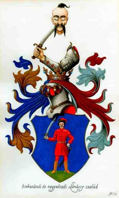 Kiskárándi nagyváradi Nánássy címer.JPG