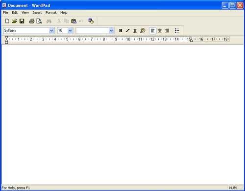 wordpad for windows xp