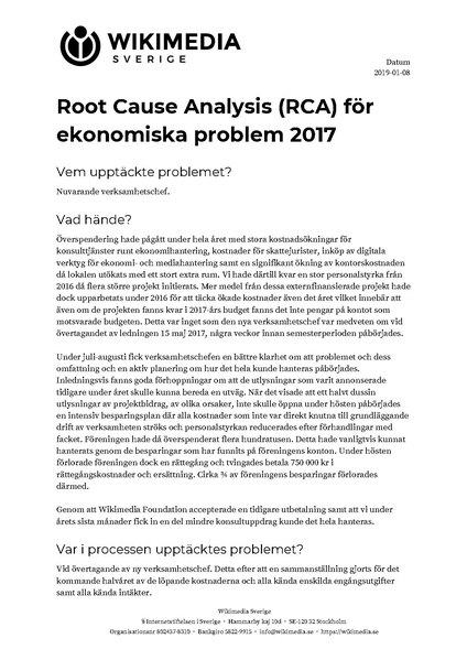 Fil:Root Cause Analysis (RCA) för ekonomiska problem 2017.pdf