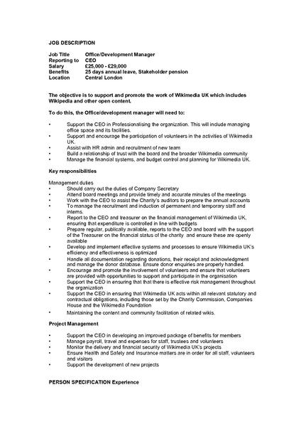 File 2011 office manager job wikimedia uk - Executive office administrator job description ...
