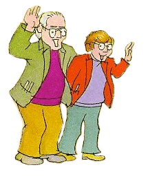 Illustration of Stan and Jan Berenstain, by the Berenstains.