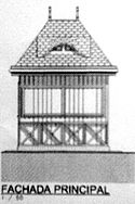 The original design of the kiosk, as shown in the plans by the Municipality. Image: Ilustre Municipalidad de Pichilemu.