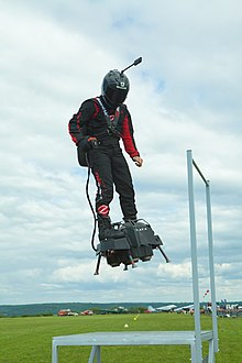 French inventor Franky Zapata successfully crosses English Channel on jet-powered hoverboard