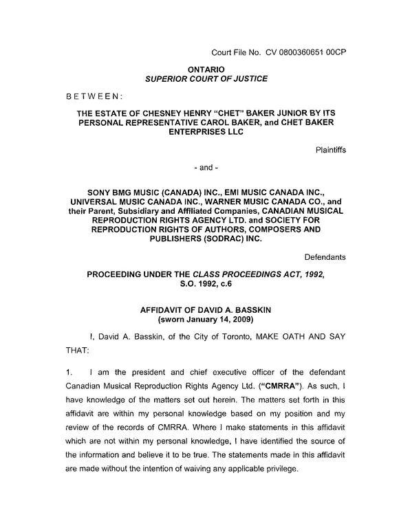 sworn statement letter