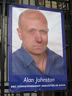 Free Alan Johnston poster
