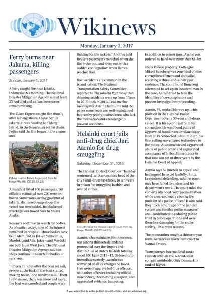 File:Wikinews January 2, 2017 pdf - Wikinews, the free news source