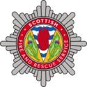 Logo of Scottish Fire and Rescue Service.