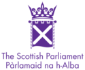 Logo of Scottish Parliament.
