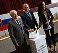 2014-03-29 Andrej Kiska voting with his father and daughter.jpg