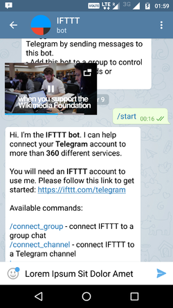 Telegram introduces bidirectional IFTTT integration