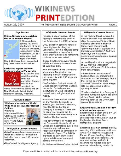 File:22August2007 pdf - Wikinews, the free news source