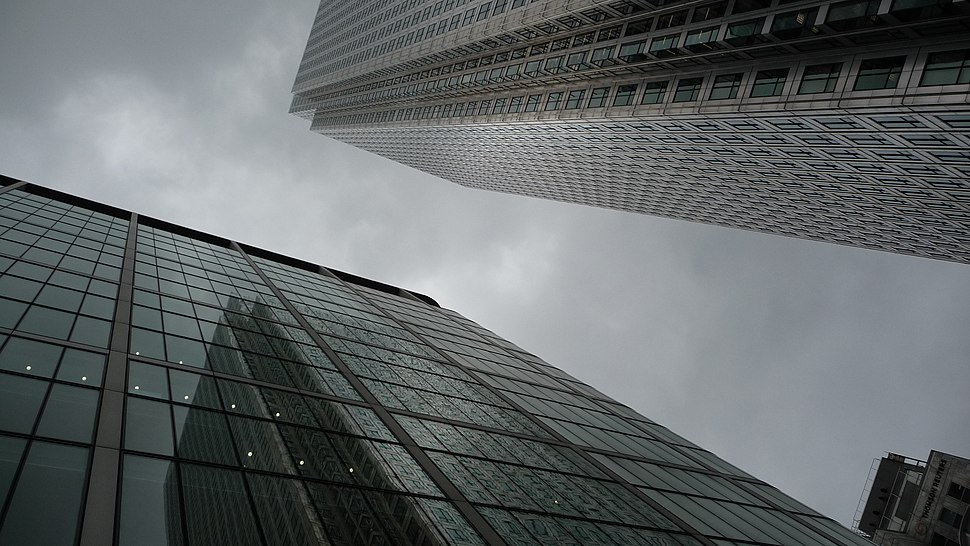 Wolkekrabbers in Canary Wharf