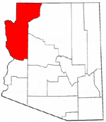 Map of Arizona highlighting Mohave County.png