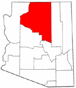 Map of Arizona highlighting Coconino County.png